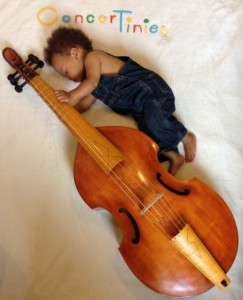 tiny person with viol